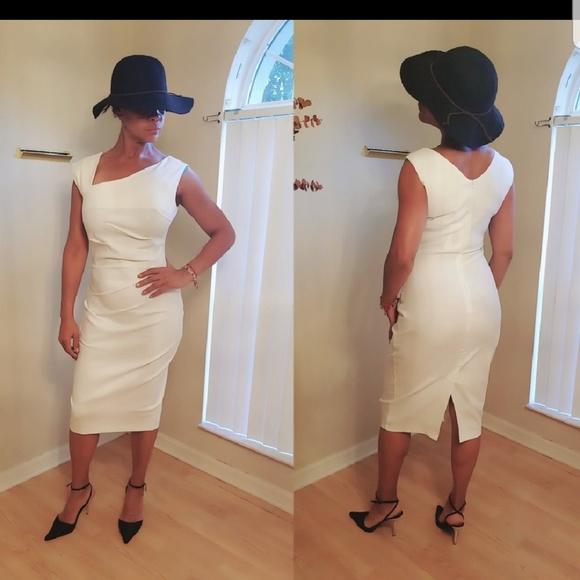 f6c4839269ad Retro 1950s Style Sleeveless Slim Business Dress